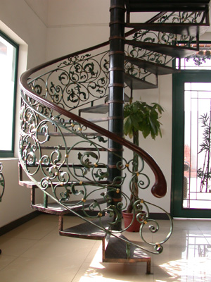 Attractive Or Curved Staircase Railings. We Have Had Clients Request Solid Railings  And Hollow Railings, Wrought Iron, Forged Iron, Just About Anything Can Be  Made, ...